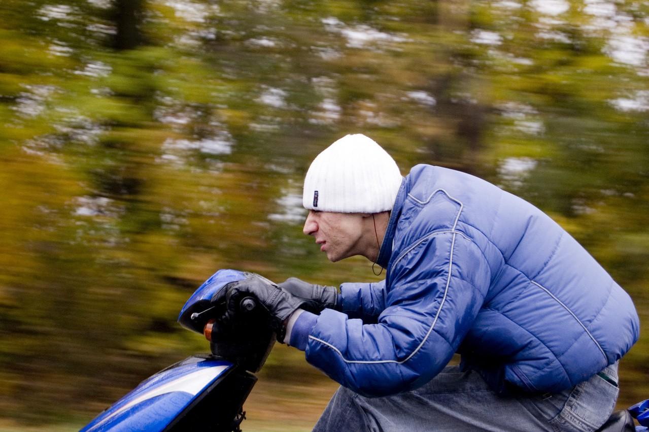 Zimowy ubiór rowerzysty